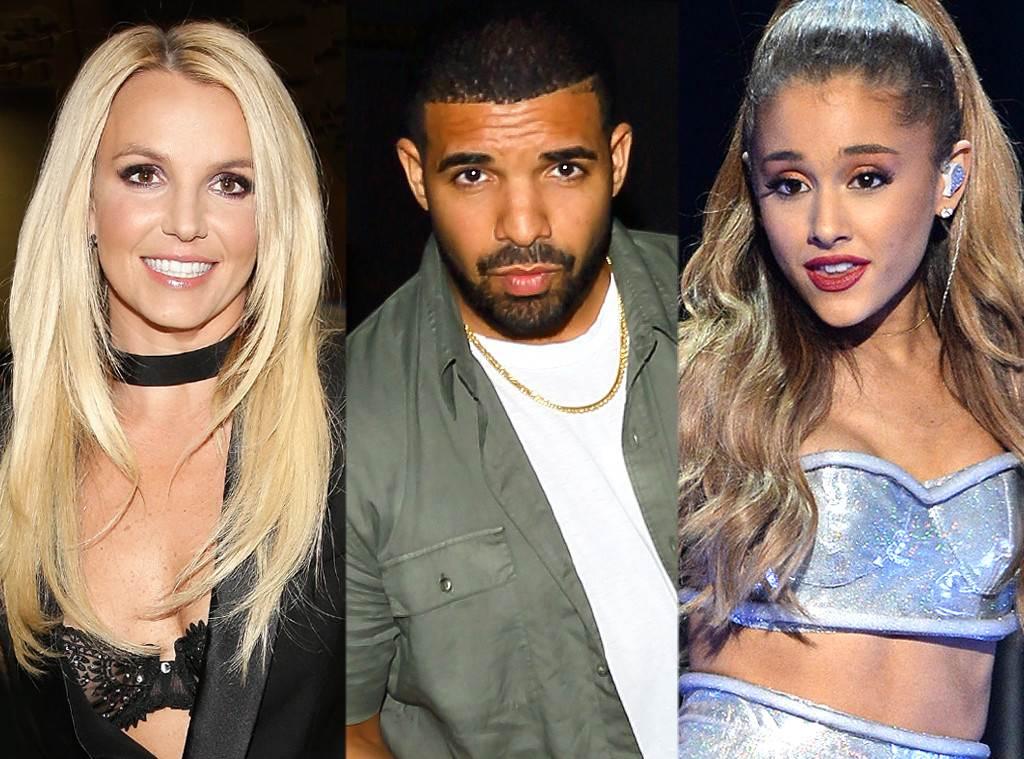 Britney Spears, Drake, Ariana Grande
