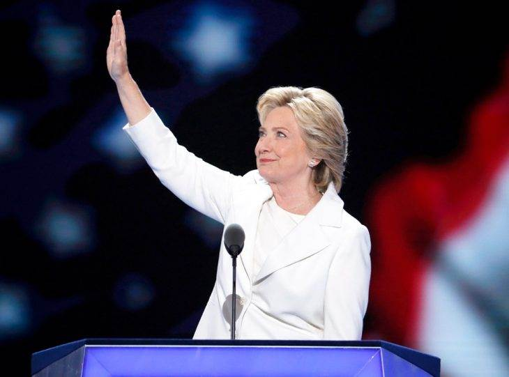 Hillary Clinton Speaks About Historic Nomination for President at DNC: