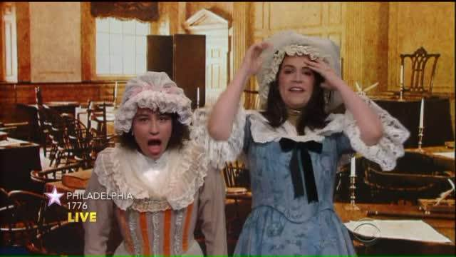Stephen Colbert takes a trip to 'Broad City,' circa 1776