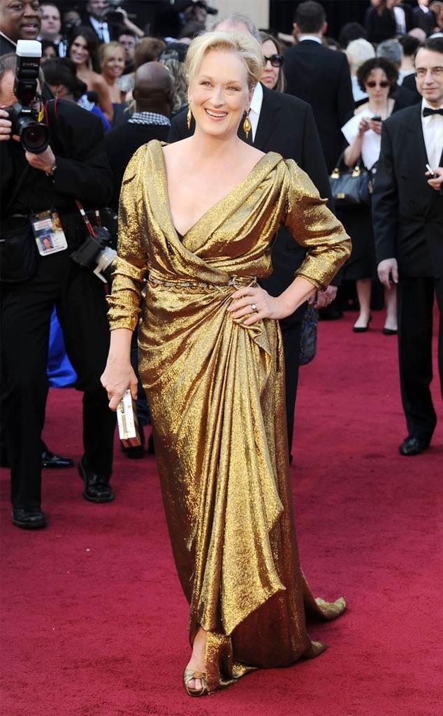 Meryl Streep, Oscars, Dresses, 2012