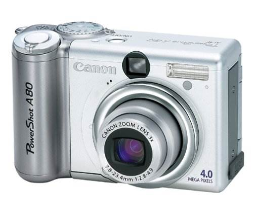 Canon PowerShot A80 4MP Digital Camera w/ 3x Optical Zoom