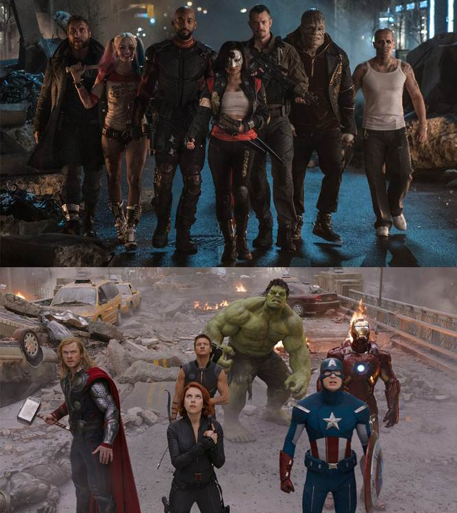 Suicide Squad, The Avengers