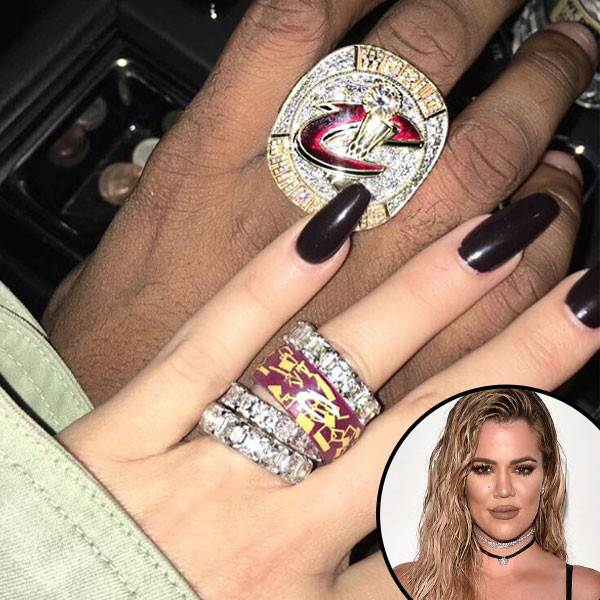 Khloe Kardashian Shows Off Diamond Rings and Cleveland Cavalier Rings on That