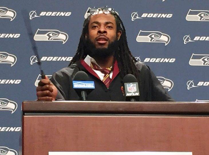 Seattle Seahawks' Richard Sherman Dressed as Harry Potter for a Press