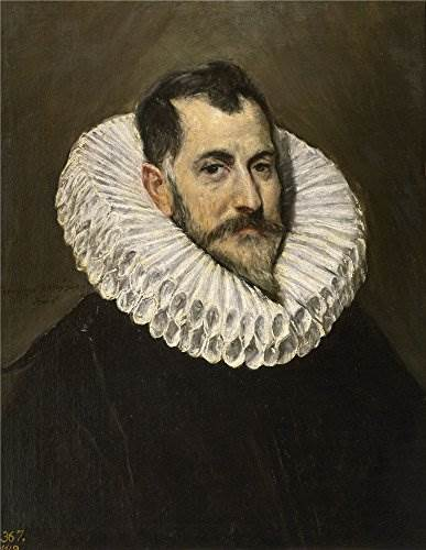 Oil Painting 'El Greco A Nobleman 1600 05', 16 x 21 inch / 41