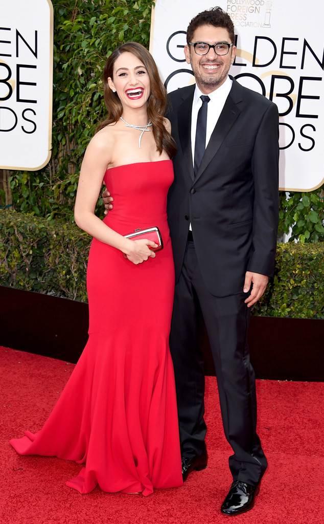 Emmy Rossum, Sam Esmai, Golden Globe Awards Couples