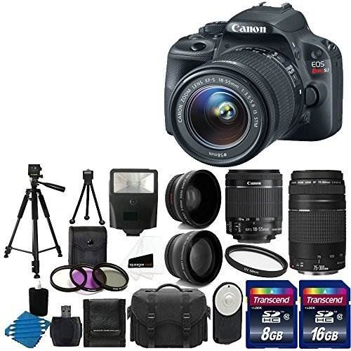Canon EOS Rebel SL1 18.0 MP CMOS Digital SLR with EF-S 18-55mm…