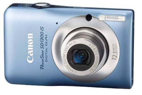Canon PowerShot SD1300IS 12.1 MP Digital Camera with 4x Wide A…