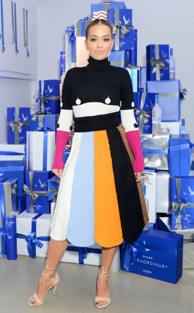 Saturday Savings: Rita Ora's Colorblock Skirt Is Stunning (and It's