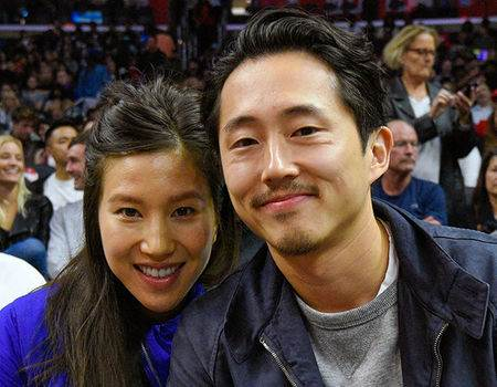 The Walking Dead's Steven Yeun Reunites With His Co-Stars at His Wedding