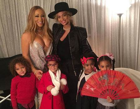 Mariah Carey's Twins Meet Blue Ivy Carter
