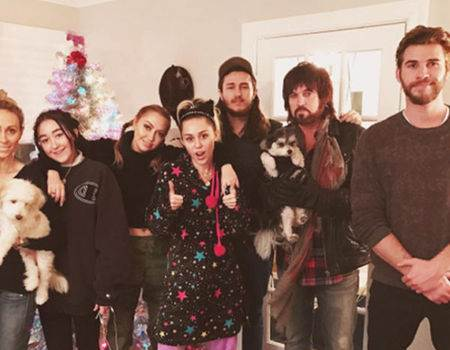 Liam Hemsworth Celebrates Christmas Early With Miley Cyrus and Her Family