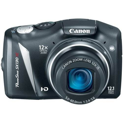Canon PowerShot SX130IS 12.1 MP Digital Camera with 12x Wide A…