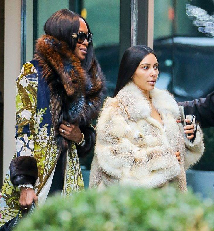 Kim Kardashian Lunches With Naomi Campbell Upon Returning to New York City