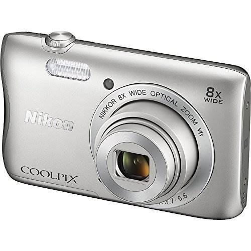 Nikon COOLPIX S3700 20.1 MP WiFi Digital Camera (8X Optical Zo…