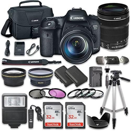 Canon EOS 7D Mark II 20.2MP CMOS Digital SLR Camera Bundle wit…
