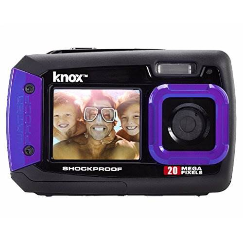 Knox Dual-Screen 20MP Rugged Underwater Digital Camera with Vi…