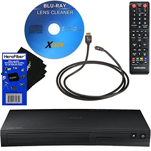 Samsung BD-J5100 Streaming Curved Disk Blu-ray Player with Rem…