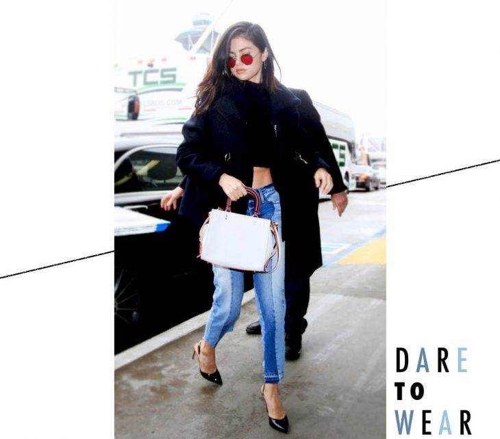 Selena Gomez Makes a Solid Case for the Winter Crop Top