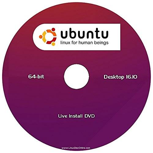 "Ubuntu 16.10 Linux Desktop Edition (64-Bit) ""NEW RELEASE"""