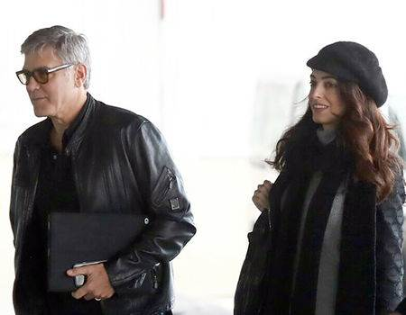 Amal Clooney Celebrates 39th Birthday With George Clooney and His Parents in