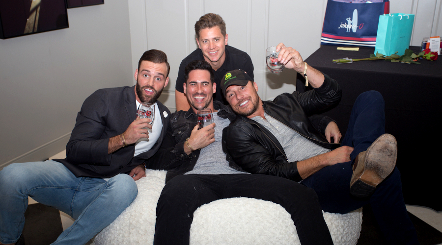 robby hayes jef holm josh murray chris soules photo by benjamin benoit The unfiltered insanity of watching The Bachelor finale with a gaggle of former Bachelors