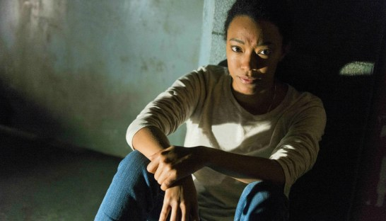 "Sonequa Martin-Green as Sasha in Season 7 of ""The Walking Dead"""