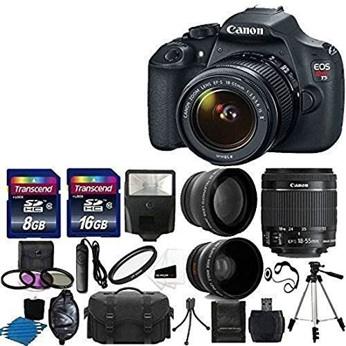 Canon EOS Rebel T5 DSLR Digital Camera & EF-S 18-55mm f/3.5-5….