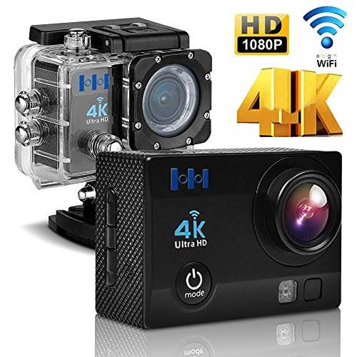 HEIHEI 1080P 4K Ultra HD Wireless Sports Camera, 2.0 Inch 170 …