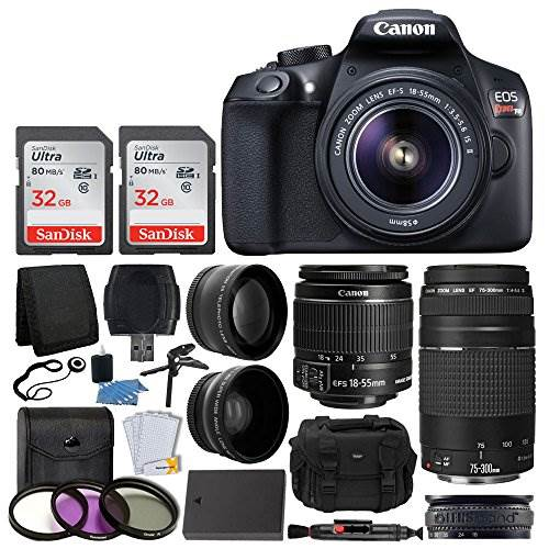 Canon EOS Rebel T6 Digital SLR Camera, 18-55mm EF-S Lens, EF 7…