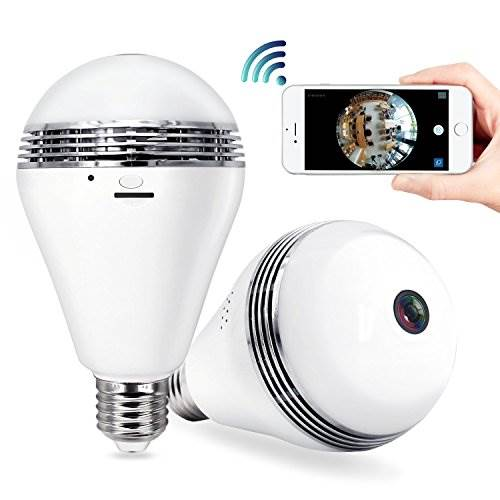 Polywit 360cam-1702 Security Camera Bulb System (2017 New Desi…