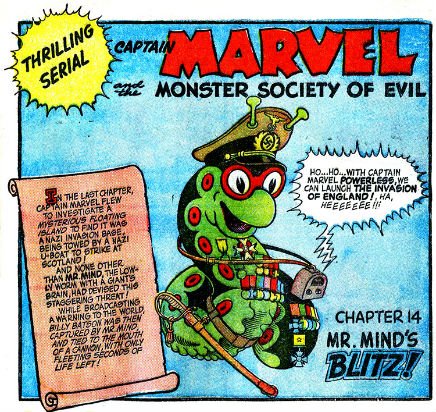 Mister Mind captain marvel adventures issue 35