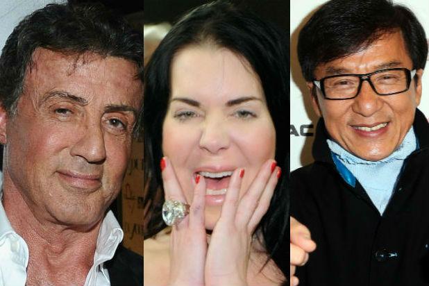 Sylvester Stallone, Chyna, Jackie Chan
