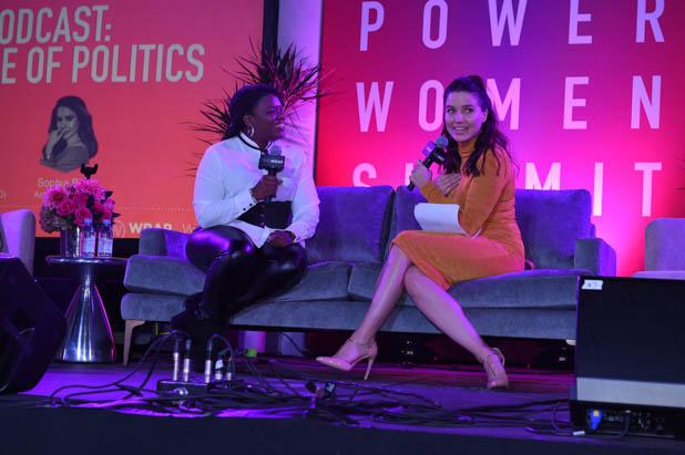Cori Bush and Sophia Bush at the Power Women Summit 2019