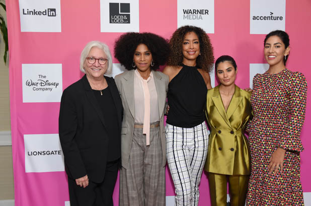 Teri Schwartz, Kelly McCreary, Gina Torres, Diane Guerrero and Stephanie Beatriz at the Power Women Summit 2019