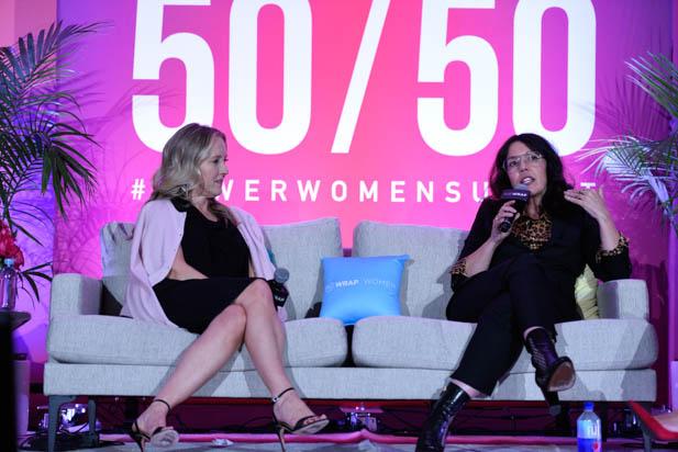 Jennifer Salke and Sarah Barnett at the power women summit 2019