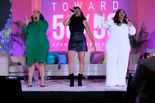 Angela Birchett, Shelea Frazier and Christina Bell at the Power Women Summit 2019