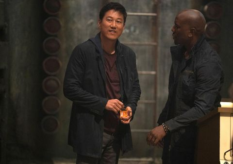 Sung Kang as Han, Tyrese as Roman, Fast and Furious 9