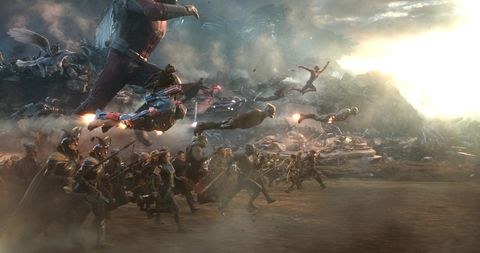Avengers: Endgame battle scene