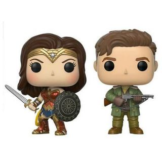 Steve Trevor & Wonder Woman EXC Pop! vinyl figure 2-pack