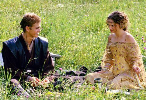 Hayden Christensen and Natalie Portman in Star Wars Attack of the Clones