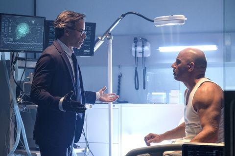 Guy Pearce as Dr Emil Harting, Vin Diesel as Bloodshot