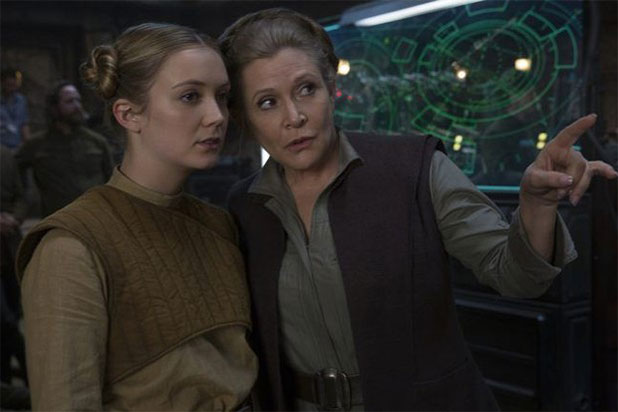 Billie Lourd Carrie Fisher Last Jedi