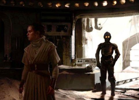 star wars rise of skywalker rey concept art