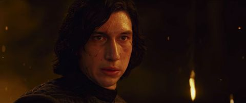 adam driver as kylo ren in star wars the last jedi trailer