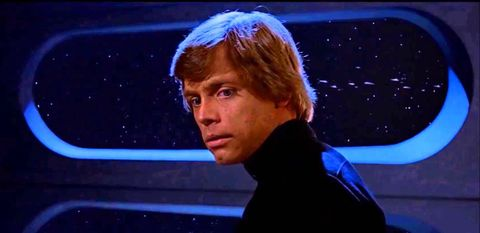 mark hamill as luke skywalker in star wars return of the jedi