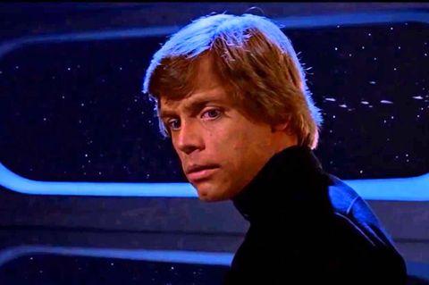 mark hamill as luke skywalker in star wars return of the jedi