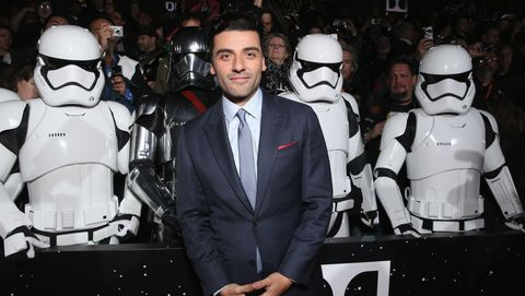 oscar isaac at star wars the force awakens premiere