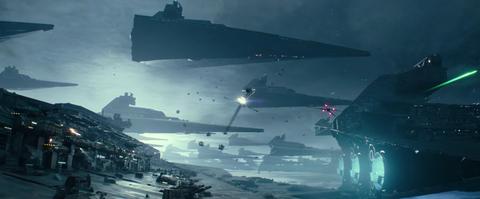 star wars the rise of skywalker,star destroyer fleet, exegol, palpatine