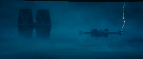 tie fighter and x wing in star wars the rise of skywalker